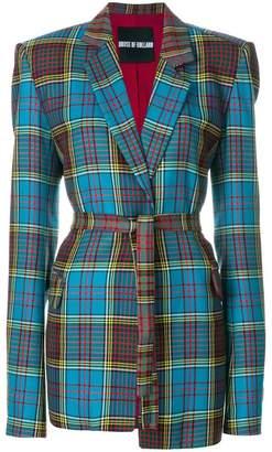 House of Holland tartan tailored jacket