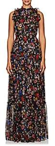 Erdem Women's Ava Floral Silk Gown - Black Multi