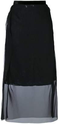Sacai sheer panel skirt