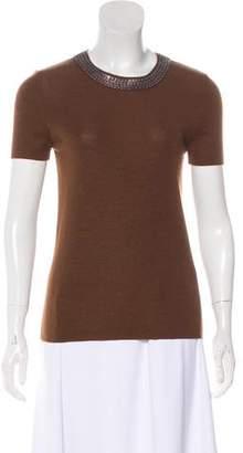 Akris Cashmere Embellished Top