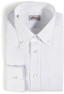 BrioniBrioni Classic Linen Long Sleeve Button Down