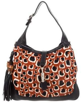 Gucci Ponyhair New Jackie Bag Orange Ponyhair New Jackie Bag