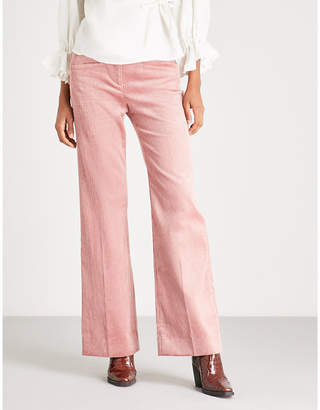 ALEXACHUNG Wide high-rise corduroy trousers