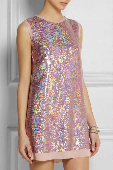 Marc by Marc Jacobs Stelli sequined silk mini dress