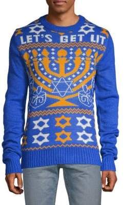 Let's Get Lit Hanukkah Sweater