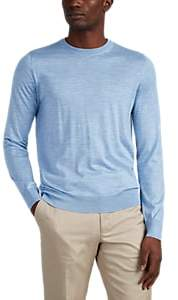 Brioni Men's Slub Cashmere-Blend Crewneck Sweater - Lt. Blue