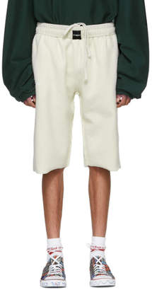 Vetements White Oversized Inside-Out Sweat Shorts