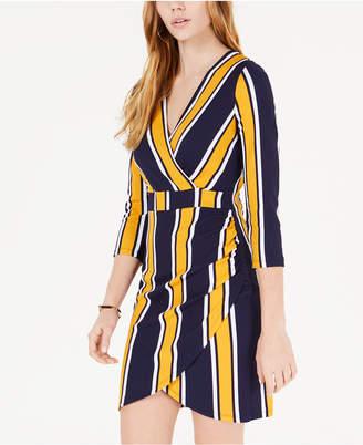 Almost Famous Juniors' Striped Wrap Dress