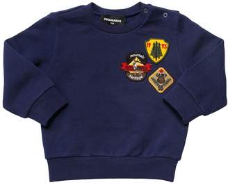 DSQUARED2 Patches Cotton Sweatshirt