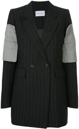 Strateas Carlucci striped plated cuff blazer