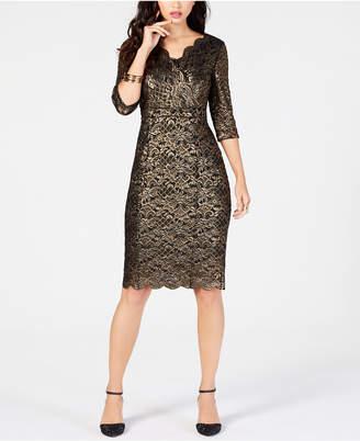 Thalia Sodi Metallic Lace Dress