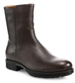 Aquatalia Logan Embossed Leather Mid-Calf Boots