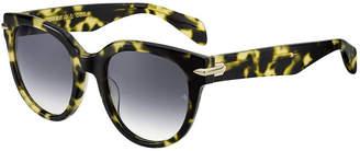 Rag & Bone Round Gradient Acetate Sunglasses