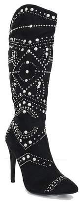 Ralph Lauren Lorraine Lucky Studded Knee High Boot (Women)