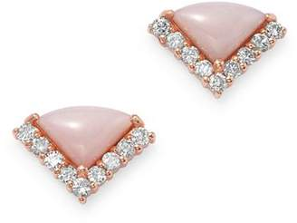 Bloomingdale's Pink Opal & Diamond Stud Earrings in 14K Rose Gold - 100% Exclusive