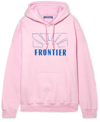 Paradised Printed Cotton-blend Fleece Hoodie