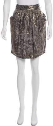 See by Chloe Silk Metallic Skirt