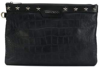 Jimmy Choo Derek croc-embossed clutch