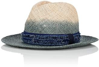 CA4LA Men's Dip-Dyed Straw Fedora