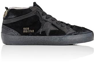 Golden Goose Women's Women's Mid Star Suede & Leather Sneakers $495 thestylecure.com