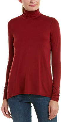 Three Dots Relaxed High-Low Turtleneck