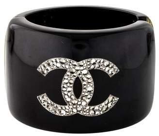 Chanel Crystal CC & Star Resin Cuff