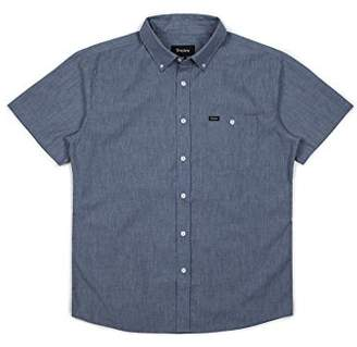 Brixton Men's Central Tailored Fit Short Sleeve Button Down Woven Shirt