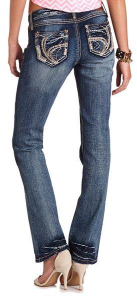 Charlotte Russe Ariya Curvy Bootcut Jean