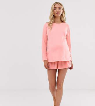 Asos DESIGN Maternity mix & match pyjama jersey short