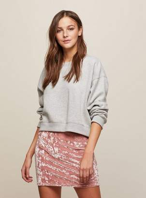 Miss Selfridge Pink velvet mini skirt