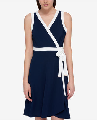 Tommy Hilfiger Sleeveless Wrap Dress, Only at Macy's $99.50 thestylecure.com
