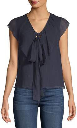 See by Chloe Women's Gauze Ruffled Sleeveless Cotton Top