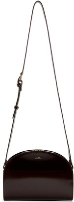 A.P.C. Brown Half Moon Bag $455 thestylecure.com