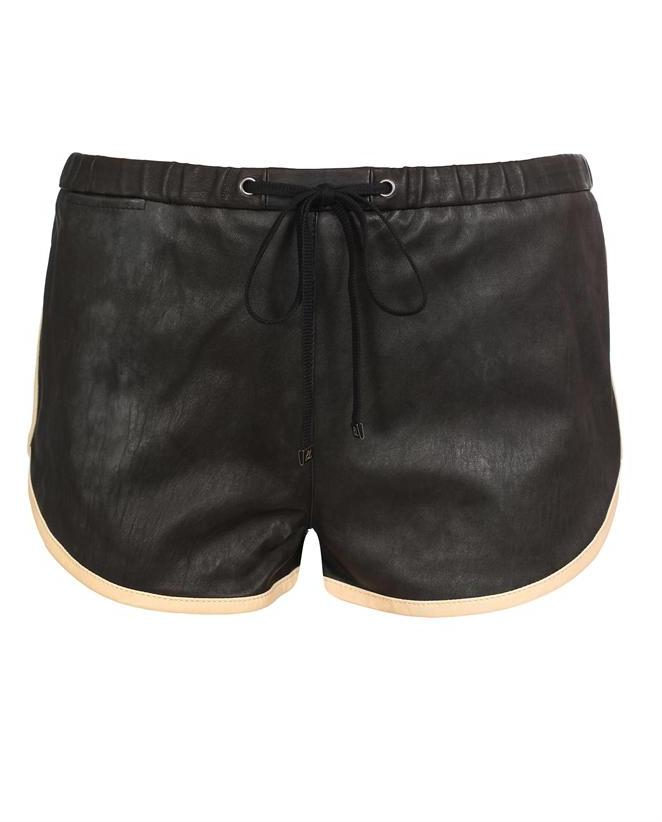 3.1 PHILLIP LIM Leather boxing shorts