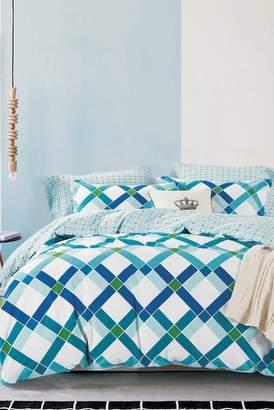 California Design Den by NMK Diamond Geo Comforter 3-Piece Set - King - Blue