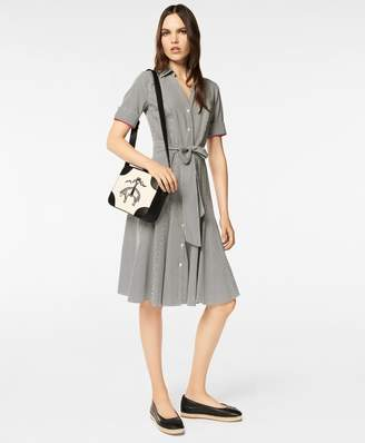 Brooks Brothers Non-Iron Dot-Print Supima Cotton Shirt Dress