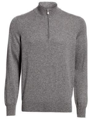 Brunello Cucinelli Quarter-Zip Cashmere Sweater