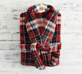 Pottery Barn Declan Plaid Robe