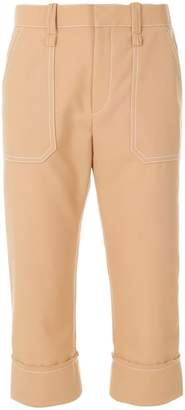 Chloé cropped stitch detail trousers