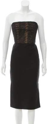 Akris Strapless Paneled Dress