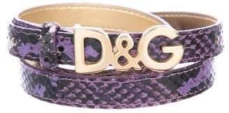 Dolce & Gabbana Thin Embossed Belt