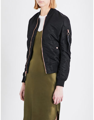 Alpha Industries MA-1 shell bomber jacket $147 thestylecure.com