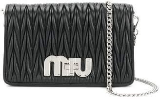 Miu Miu pleated logo shoulder bag