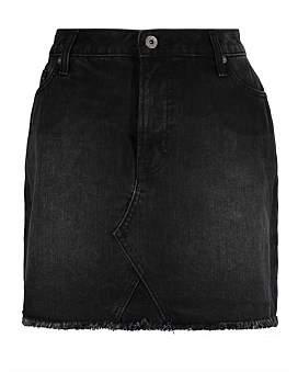 R & E RE: A Line Denim Skirt