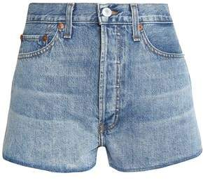 RE/DONE Faded Denim Shorts