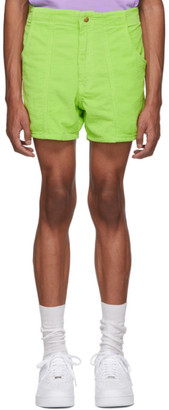 ERL Green Corduroy Shorts