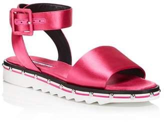 Charles David Women's Shimmy Satin Ankle Strap Sandals