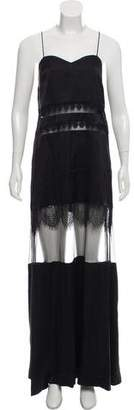 Self-Portrait Silk Lace Accented Dress w/ Tags
