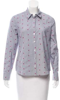 Tanya Taylor Embroidered Button-Up Top w/ Tags