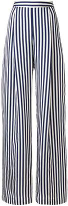 L'Autre Chose high-waisted striped wide leg trousers